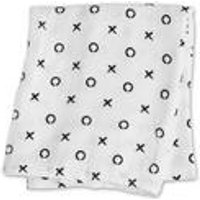 Lulujo Baby Bamboo Muslin Swaddle-Hugs and Kisses
