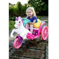 Disney Princess 6V Battery Operated Dream Horse and Carriage