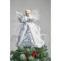 Silver Tree Top Angel Decoration