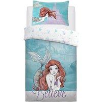 Little Mermaid Believe Single Reversible Duvet Set
