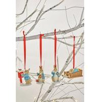 Set of 4 Peter Rabbit Hanging Ornaments