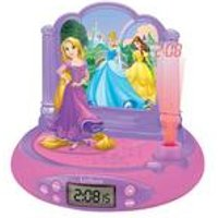 Lexibook Disney Princess Projector Alarm Clock with Radio