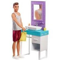 Barbie Shaving Ken with Bathroom