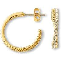 Buckley London Cleo Gold Plated Hoop Earrings