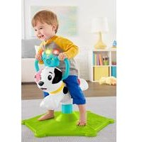 Fisher-Price Bounce and Spin Puppy, Stationary Musical Ride-On Toy