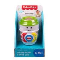 Fisher-Price Laugh and Learn On-the-Glow Coffee Cup, Interactive Baby Toy