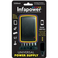 Infapower 2250mA 7 Way Universal Power Supply ACDC Adaptor