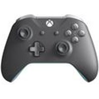 Microsoft Official Xbox One S Wireless Controller - Grey/blue (xbox One)