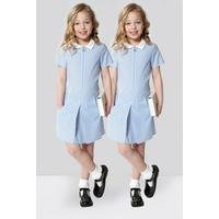 Girls Pack Of 2 Gingham Zip Through Dresses