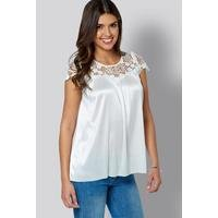Be You Crochet Printed Top