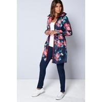 Be You Navy Floral Pac-A-Mac