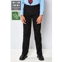 Boys Adjustable Waist Slim Leg Trouser - Black