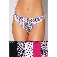 Pack of 5 Cotton Thongs