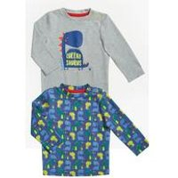 Baby Boys Dino Pack Of 2 T-Shirts
