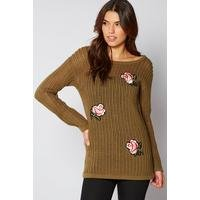Fishnet Embroidered Jumper