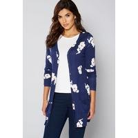 Be You Navy Floral Boyfriend Cardigan