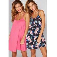 Pack Of 2 Tropicana Twisted Strap Beach Dresses