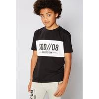 Boys Squad Colour Block Crew Neck T-Shirt