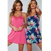 Pack Of 2 Hawaii Floral Beach Dresses