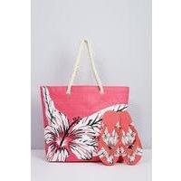 Beach Bag and Matching Flip Flops