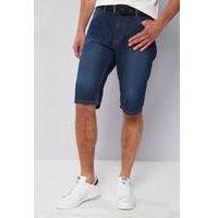 Pierre Cardin Web Belt Denim Shorts