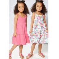 Younger Girls Mix and Match 2 Pack Dresses