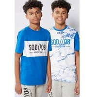 Boys Squad Pack Of 2 T-Shirts