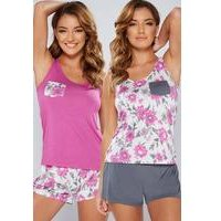 Pack of 2 Floral Shortie Sets