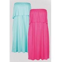 Be You Pack Of 2 Plain Bandeau Dresses