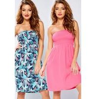 Pack Of 2 Bandeau Beach Dresses