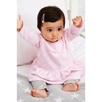 Baby Girls Unicorn 2-Piece Dress and Legging Set