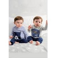 Baby Boys Bear Cuddle Me Pack of 2 T-Shirts