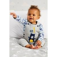 Baby Boys Bear 2-Piece Dungarees and Sleepsuit Set