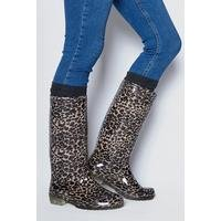 Leopard Print Tall Welly