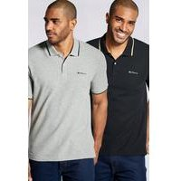 Ben Sherman Pack of 2 Tipped Polos