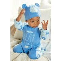Baby Bear Sleepsuit with Hat and Bag Gift Set