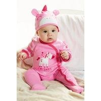 Baby Unicorn Sleepsuit with Hat and Bag Gift Set
