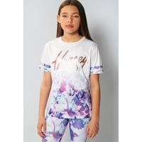 Girls Beck and Hersey Aubree Floral T-Shirt