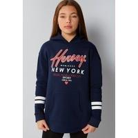 Girls Beck and Hersey Clara New York Longline Hoody