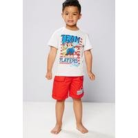 Young Boys Paw Patrol T-Shirt and Short Set