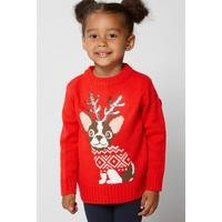 Younger Girls Reindog Christmas Jumper