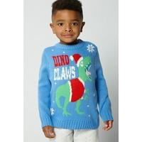 Younger Boys Dino Claws Christmas Jumper