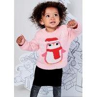 Baby Girls Penguin Christmas Jumper