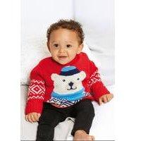 Baby Boys Polar Bear Christmas Jumper