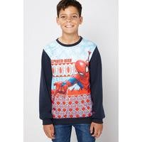 Older Boys Spiderman Christmas Sweatshirt