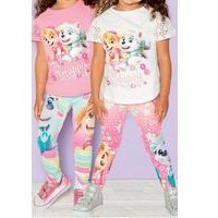 Young Girls Pack Of 2 Paw Patrol Leggings