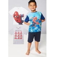 Young Boys Pack Of 3 Spider-Man T-Shirts