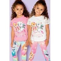 Young Girls Pack Of 2 Paw Patrol T-Shirts