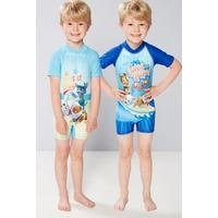 Young Boys Pack Of 2 Paw Patrol UV Swimsuits