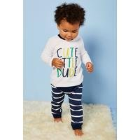 Baby Boys 2-Piece Cute Top and Stripe Pants Set